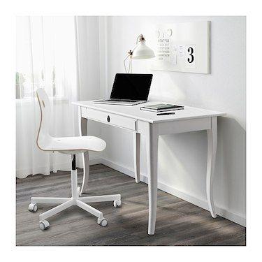 white gray solid wood office. LEKSVIK Desk White 119x60 Cm. IKEA Solid Wood Gray Office