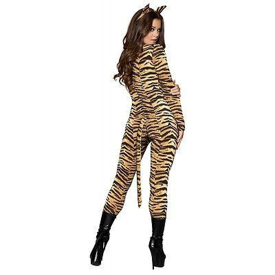 012eefa260358 Details about Tiger Costume Adult Sexy Cat Catsuit Halloween Fancy ...