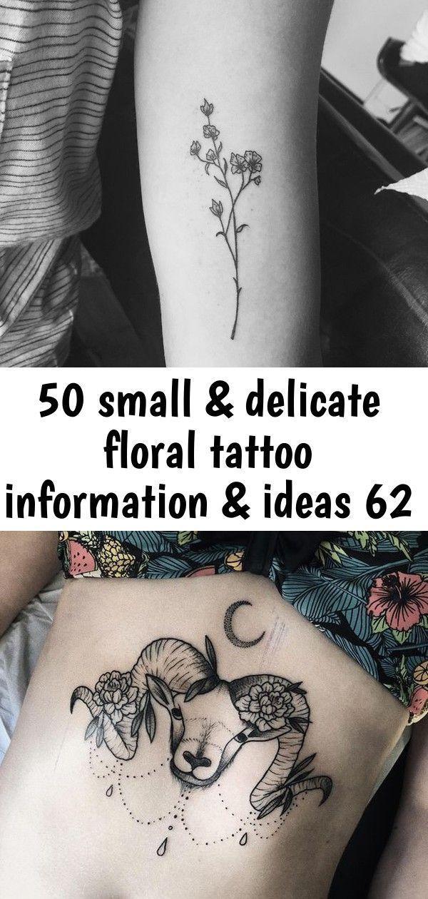 Photo of 50 kleine & zarte florale Tattoo Informationen & Ideen 62, #delicate #Floral #floralconstella …