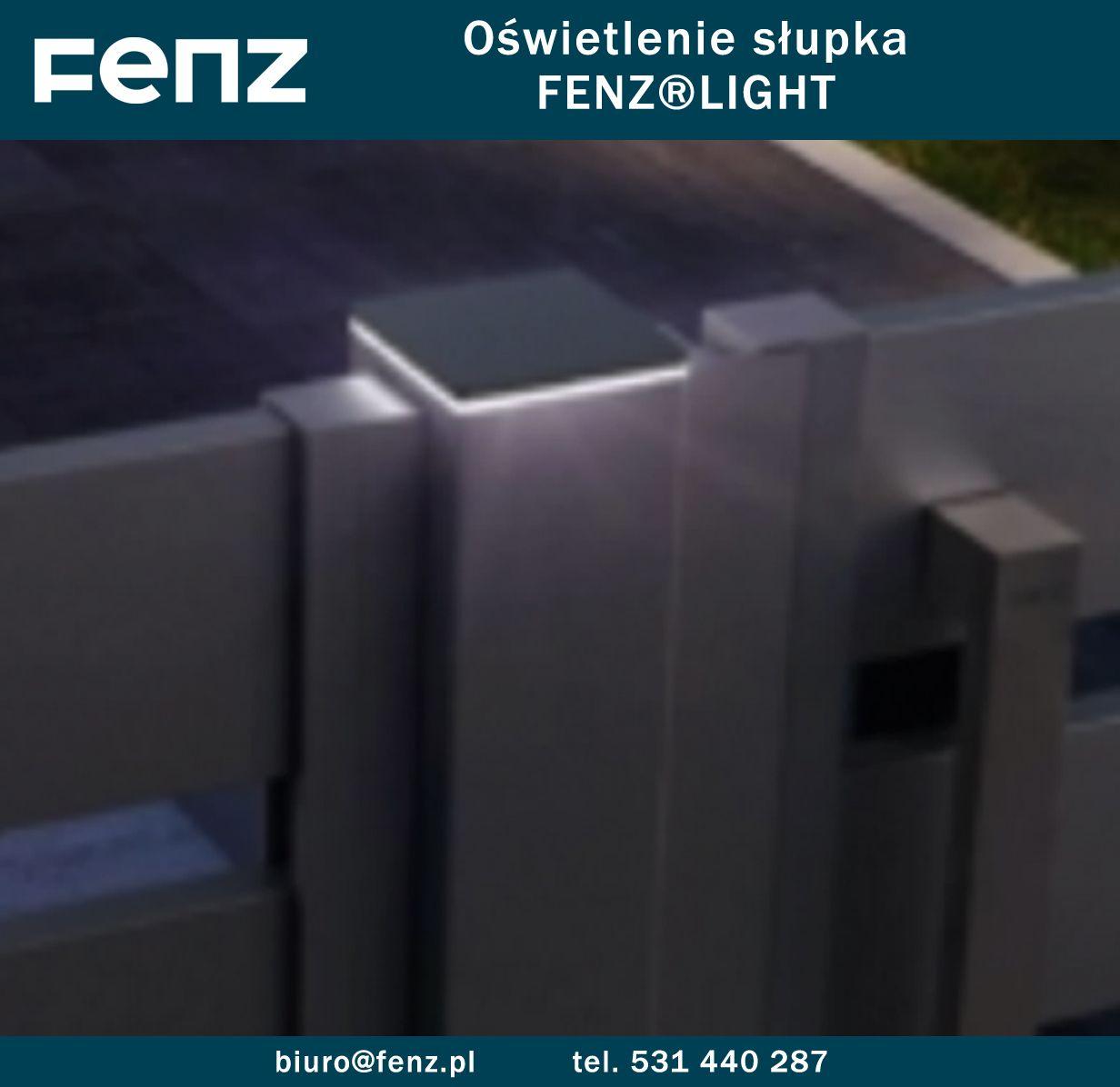 Oświetlenie Słupka To Element Ogrodzeń Marki Fenz Fenz