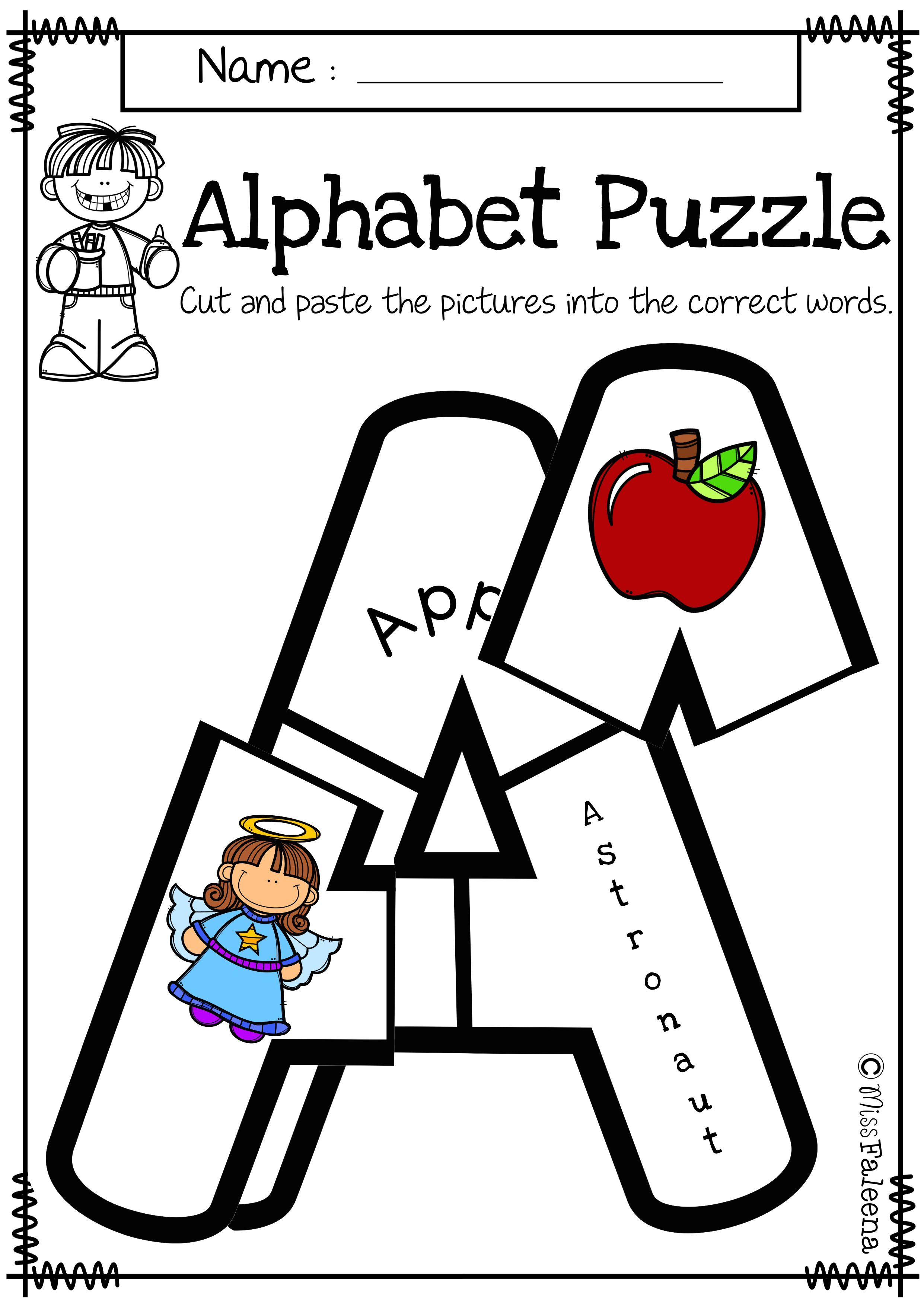 Alphabet Letter Puzzles Uppercase