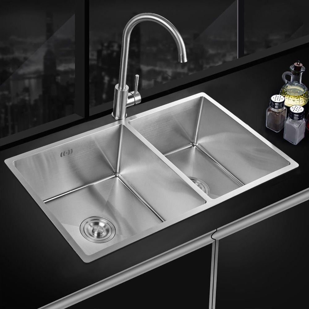 Elegant Küchenspüle Einbauspüle Waschbecken Doppelbecken Edelstahl Spülbecken 2  Becken | Heimwerker, Bad U0026 Küche, Spülen