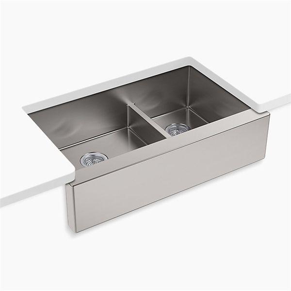 Shop Kohler 5416-NA Strive Under-Mount Double-Bowl Kitchen Sink ...