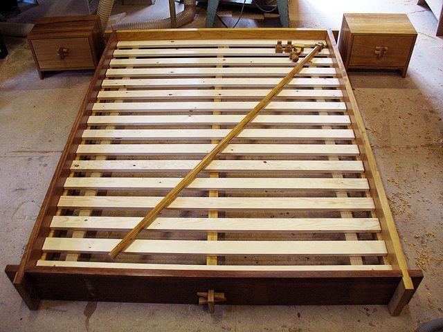 Solid Iroko handcrafted bed - handmade bespoke bedroom furniture ...