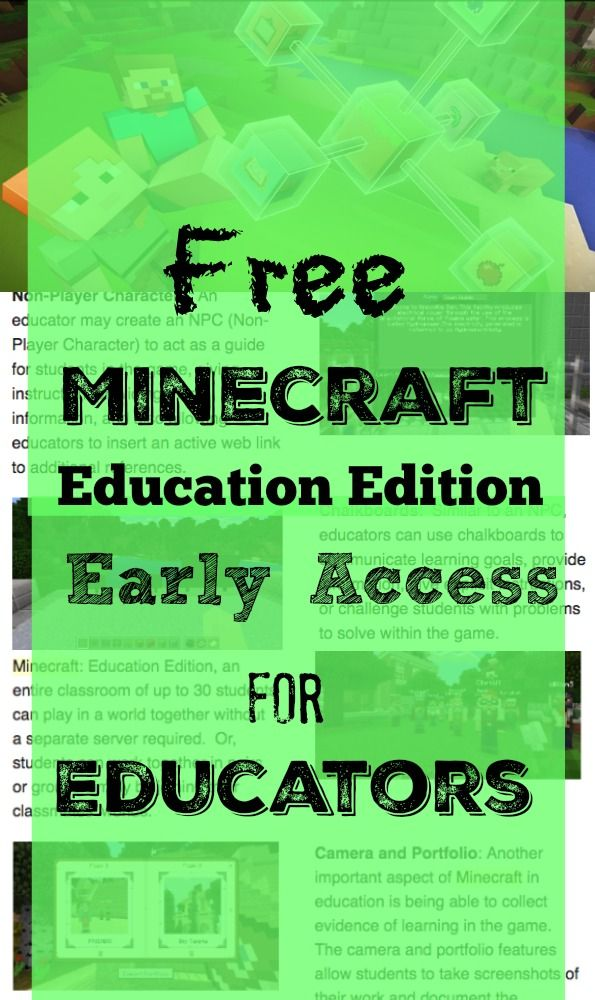 Free Minecraft Education Edition Early Access For Teachers Education Teachers Minecraft Activities