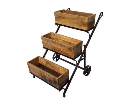 Loading | Gardening Ideas | Bar cart, Tiered garden, Cart