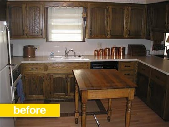 Kitchen Before & After: A 1970s Kitchen Goes Contemporary For Under ...