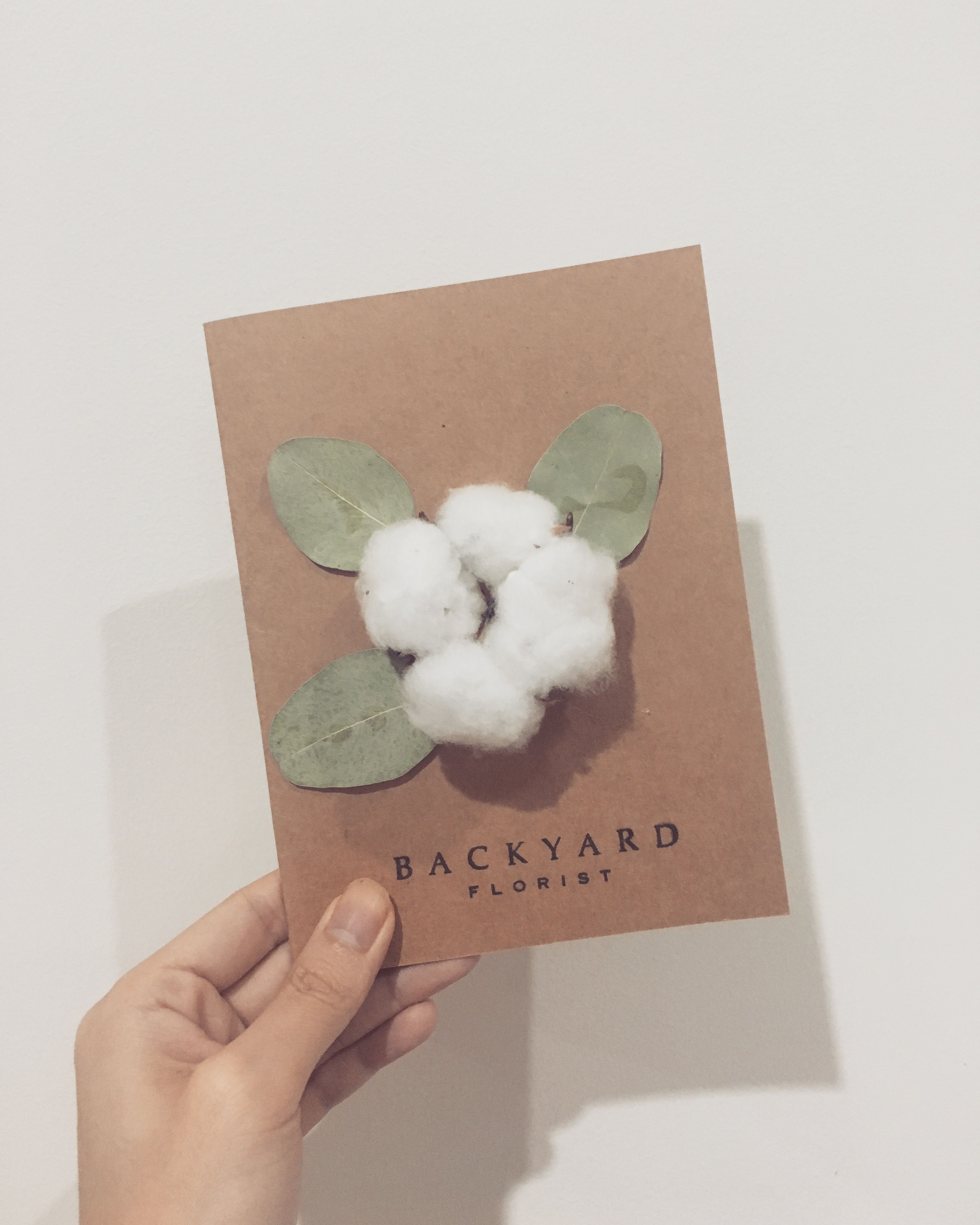 Greeting cardhandmade card with dried flower cotton flower with greeting cardhandmade card with dried flower cotton flower with leavesblank cardbirthday card thank you cardi love youinvitation izmirmasajfo Images