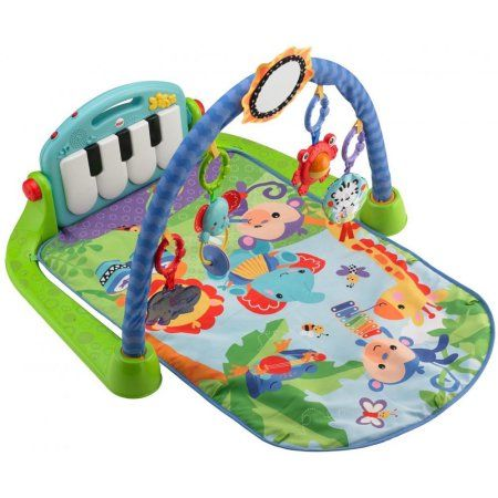 Fisher Price Kick Play Piano Green Walmart Com Fisher Price Baby Baby Play Gym Fisher Price