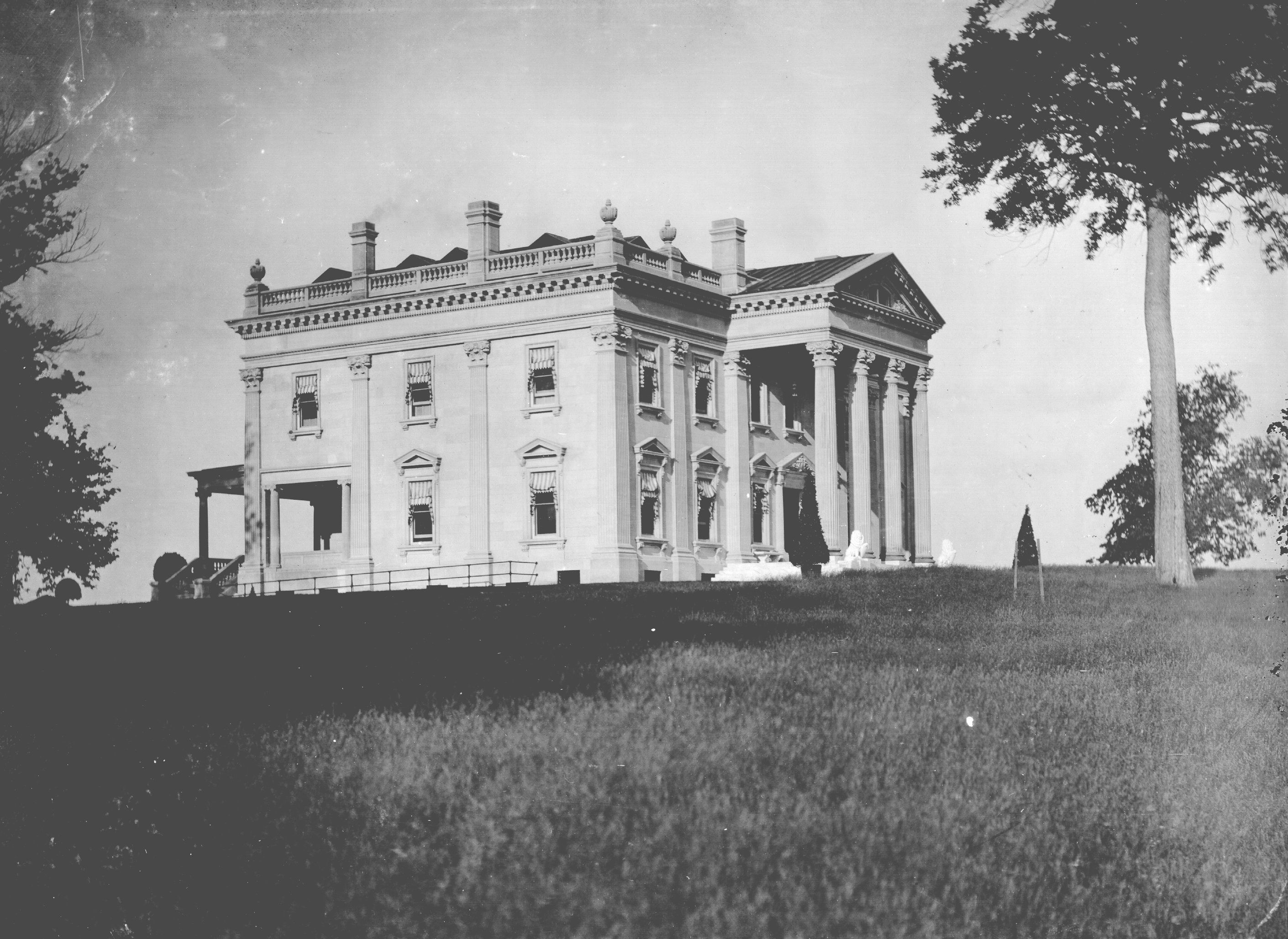 Dallas texas french chateau home photograph 4540 - Another View Of The Elmendorf Mansion Silver Print Part Of Elmendorf Farm Photographic Collection