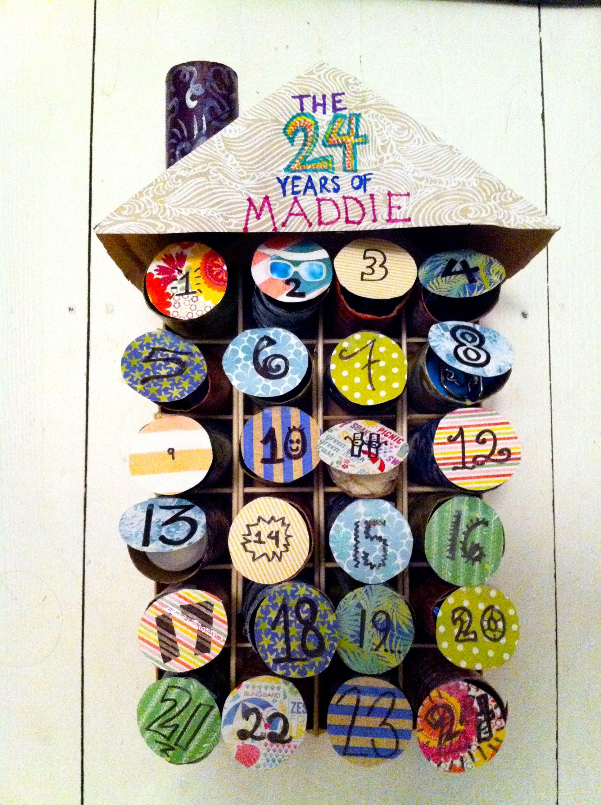 DIY Toilet Paper Roll Birthday Countdown (via Ruth Serum