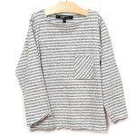 ESP No1 Stripe Long Sleeve Tee - White/Grey Heather