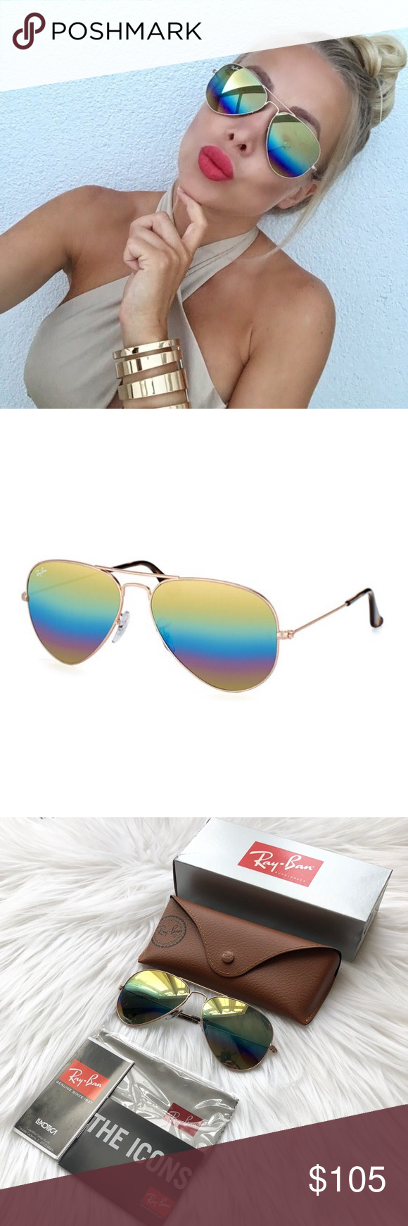 ff7bd766b5 NEW    Ray-Ban RB3025 Gradient Large Aviators Authentic Ray-Ban RB3025 9020