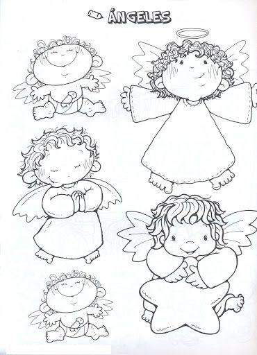 Dibujos Y Plantillas Para Imprimir Angelitos Angel Coloring Pages Christmas Coloring Pages Christmas Drawing