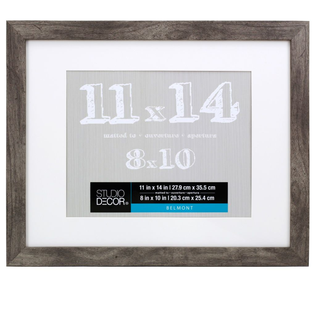 Gray Belmont Frame With Mat By Studio Decor Studio Decor Frame Decor