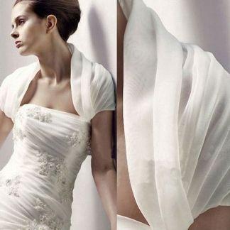 Best Cheap Chiffon Short Sleeves Bridal Jacket / Wedding Wrap–VariousDress.com