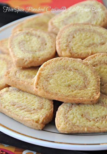 Old Time Cookies - La Sam Pia aka Chinese Five Spice Pinwheel Cookie ~ Lite Home Bake