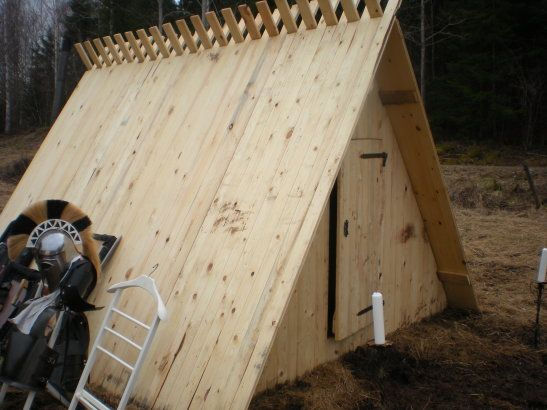 100 2x4\'s shelter. Would cost around 300$. Cheaper then a tent That ...