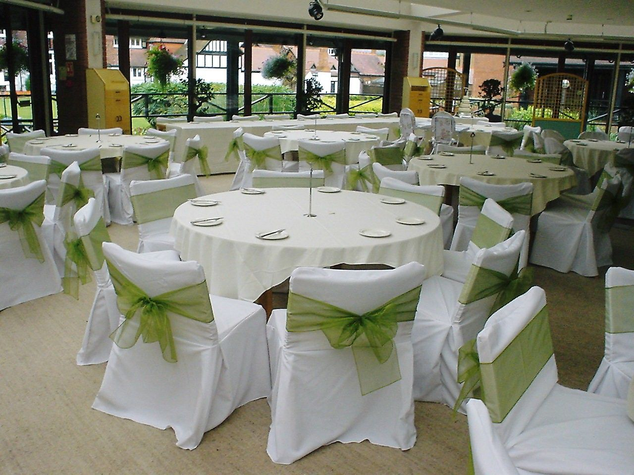 Function Accessories Chair Covers Grey Tufted Dining Cactus Green Organsa Bows On White Linen Styled By Www Fuschiadesigns Co Uk