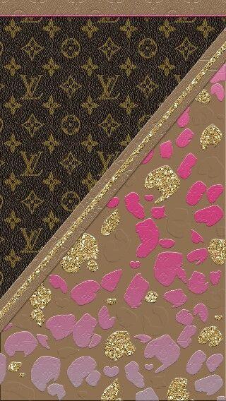 Wallpaper Louis Brown Vuitton Pink