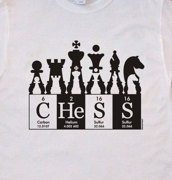 Chess hand-screened tee shirt ElementeesTM tee shi
