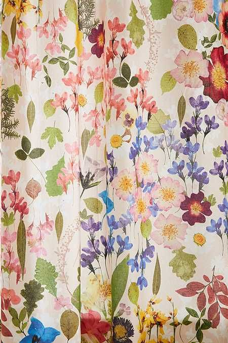 Pressed Flower Shower Curtain Flower Shower Curtain Flower