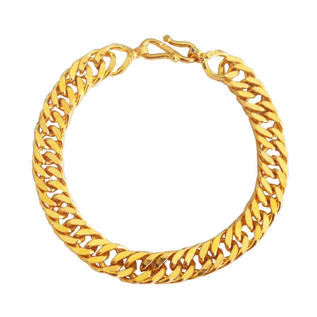 IMPORTED MEN\'S JEWELLERY GOLD \'SIMPLE BUT CLASSIC\' LINK CHAIN ...