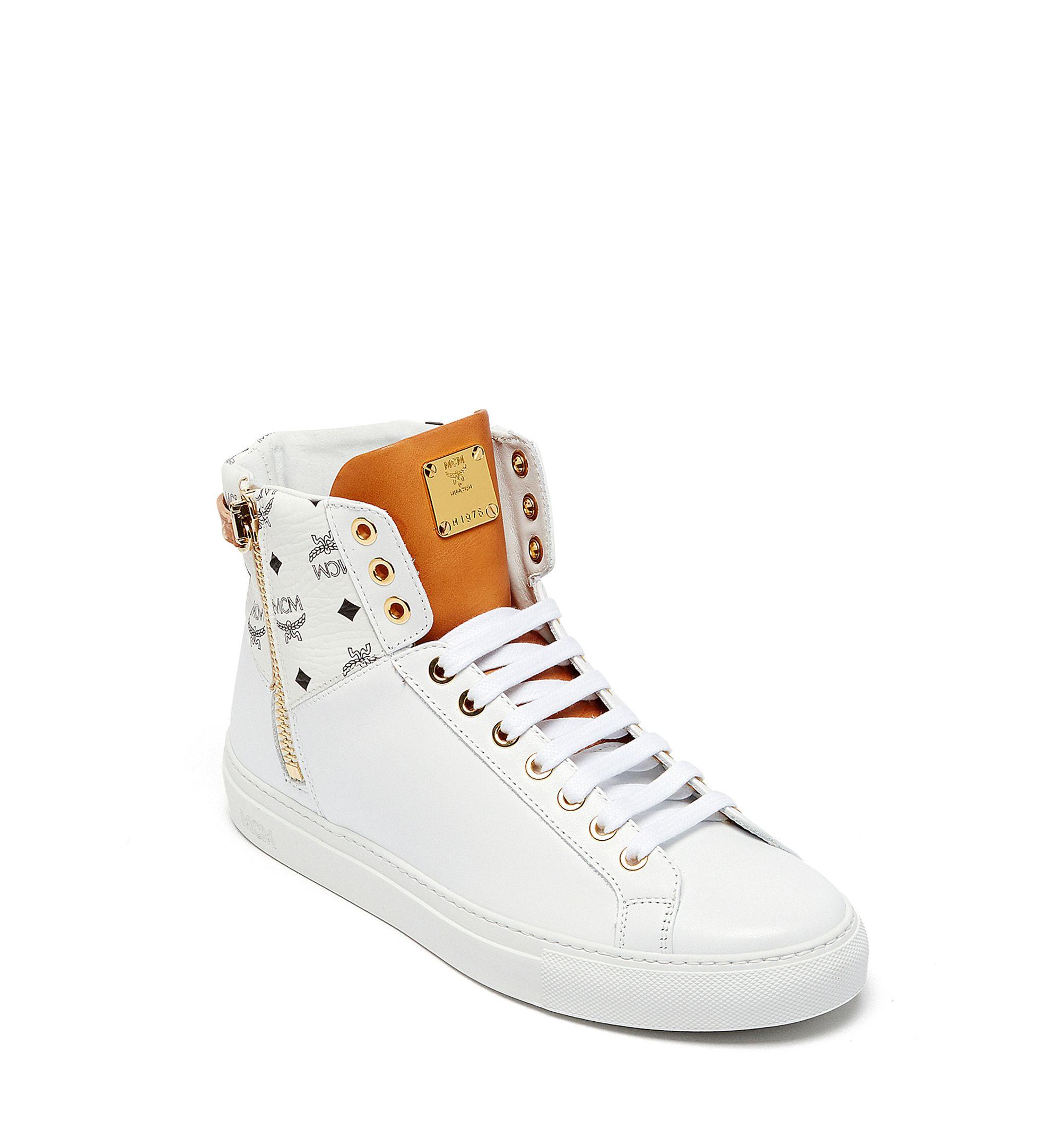 8c7d303a3e4 MCM WOMEN S VISETOS ZIP HIGH TOP SNEAKERS.  mcm  shoes