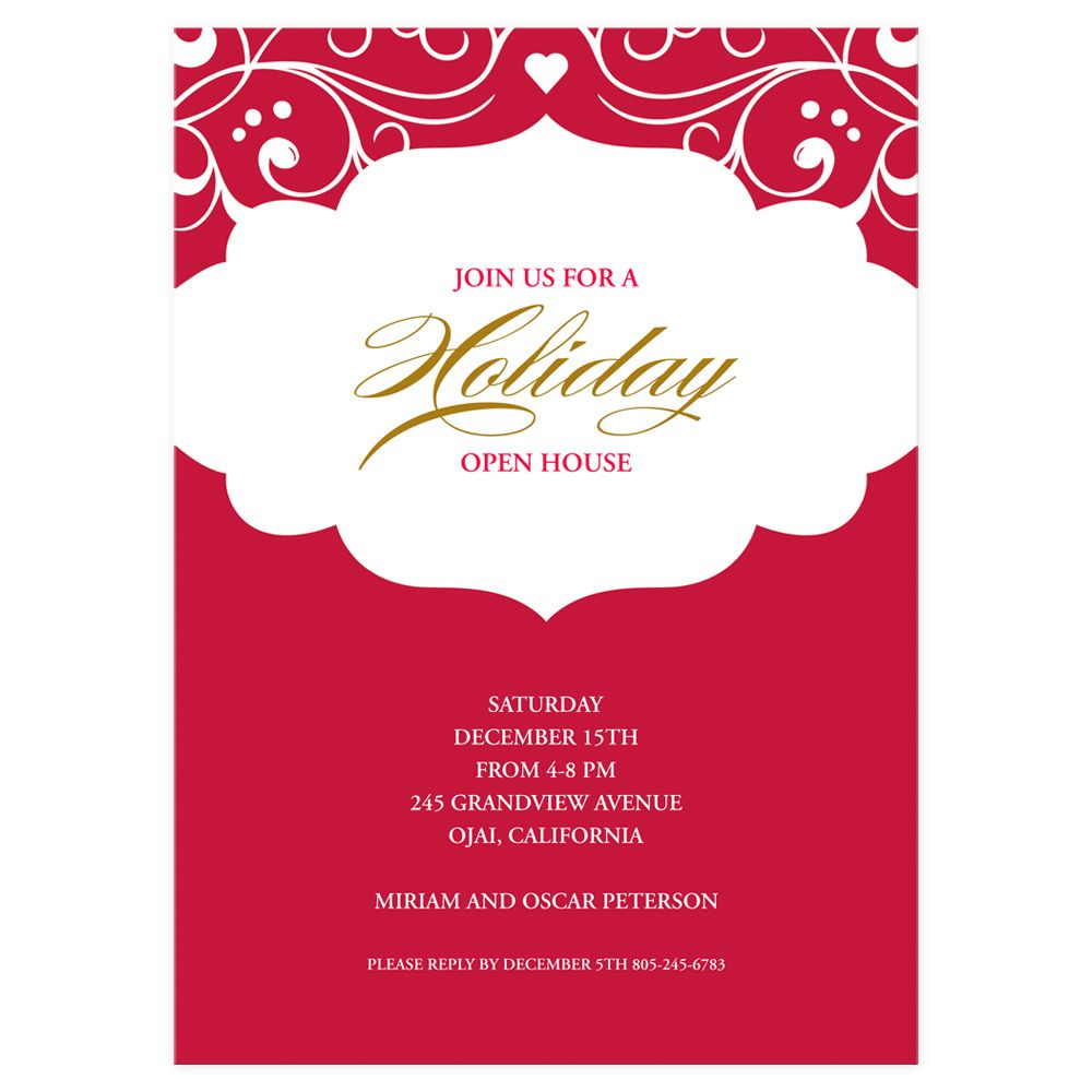 Holiday Open House eInvite Holiday Cards Holiday Invitations ...