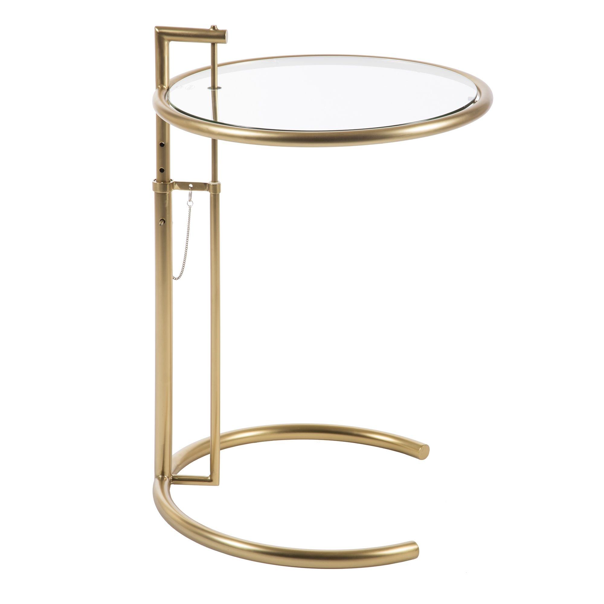 Beau York Adjustable Side Table Brass