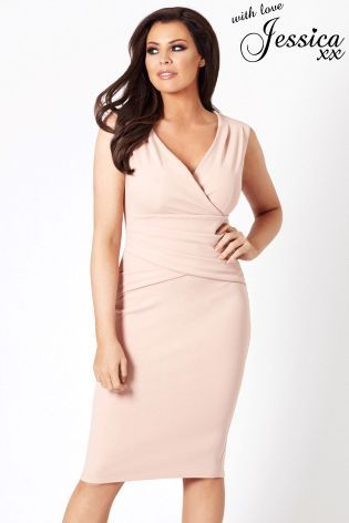 Kupte si Přiléhavé řasené šaty úzkého střihu Jessica Wright s výstřihem do  V na Next Česká republika 43f7a5555e