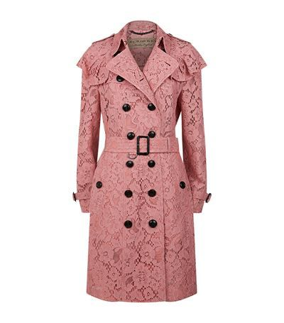 Burberry Lace Ruffle Detail Trench Coat Available To Buy At Harrods Shop Women 39 S Designer Fashion Online And Earn Rewards Points Trenchi Stil Zhenskaya Moda