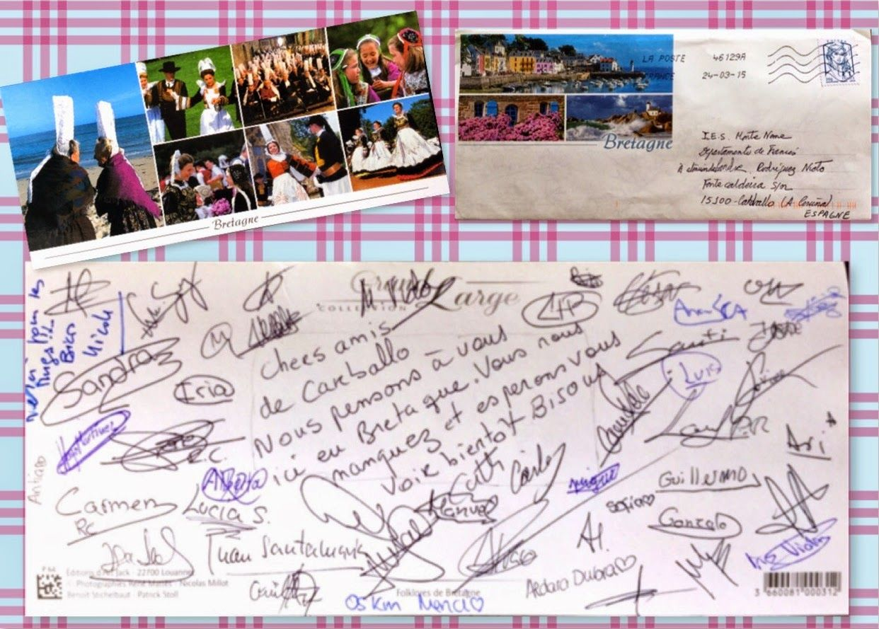 Mademoiselle SanDRillana: Carte postale de nos copains d'Oleiros!