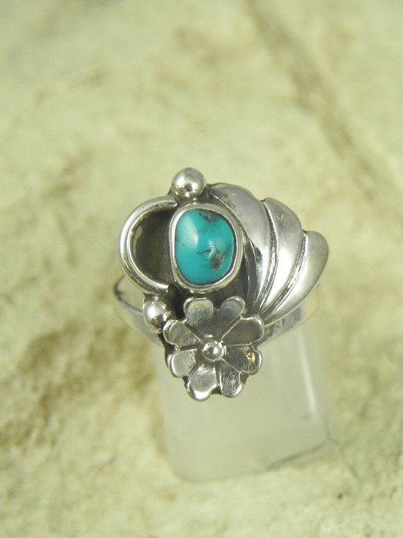 Native American Turquoise Ring by hollywoodrings on Etsy, $35.00