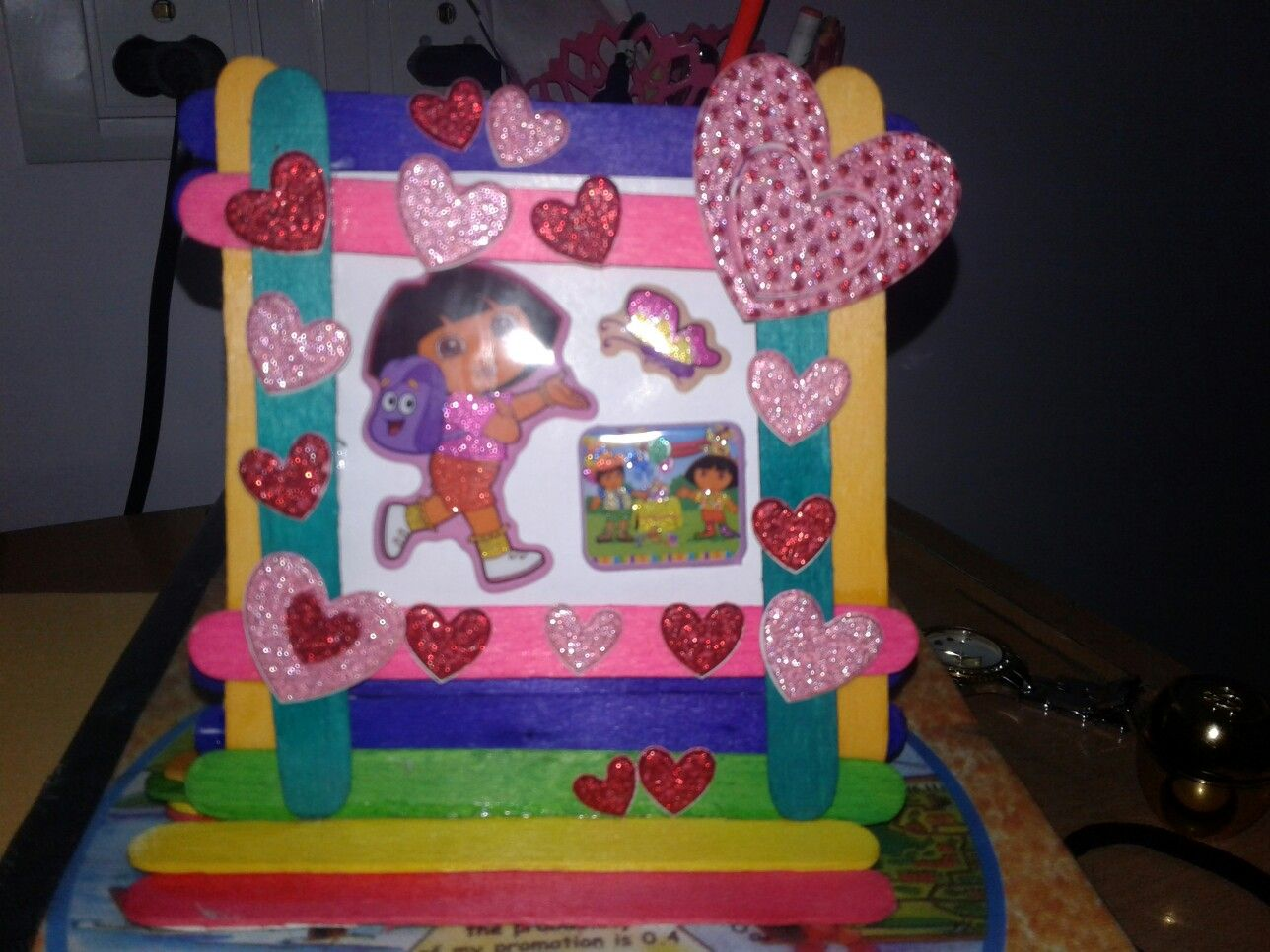 Photo Frame By Ice Cream Sticks Greeting Cards Pinterest Craft