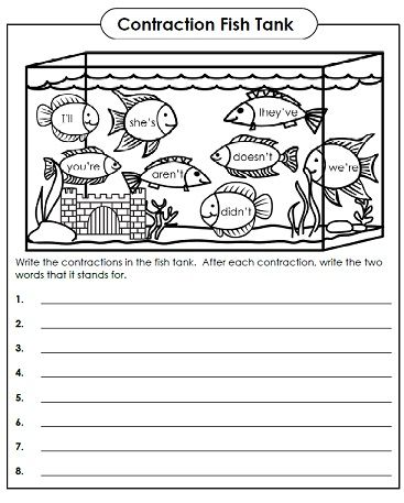 Contractions Activities | speling | Pinterest | Activities and ...