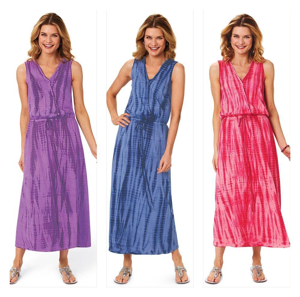 Tie dyed dress maxi dress womanus summer dress fair trade india