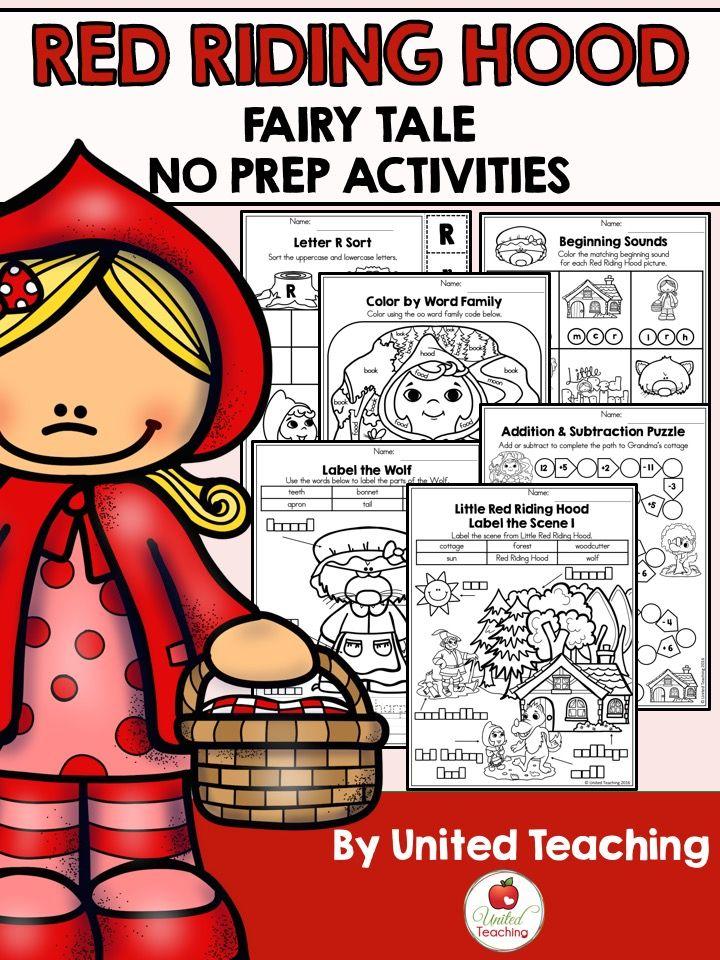 Red Riding Hood No Prep Fairy Tale Activities | Märchen und Rotkäppchen