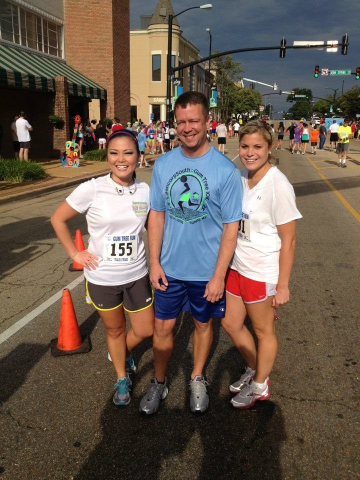 Keegan, Allie, and Robert our WTVA News Crew before the Gumtree 10K