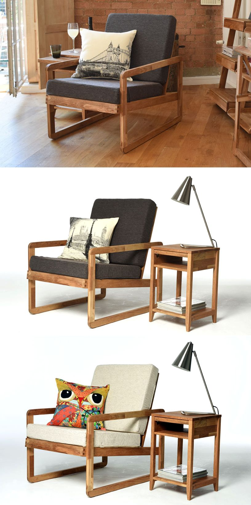 Oak Loop Chair Living Room Chair Dining Table Chairs
