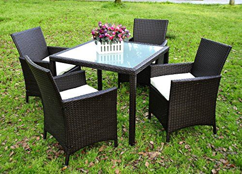 Rattan Garden Furniture 4 Seater evre rattan garden la 4 seater dining set chair table glass patio