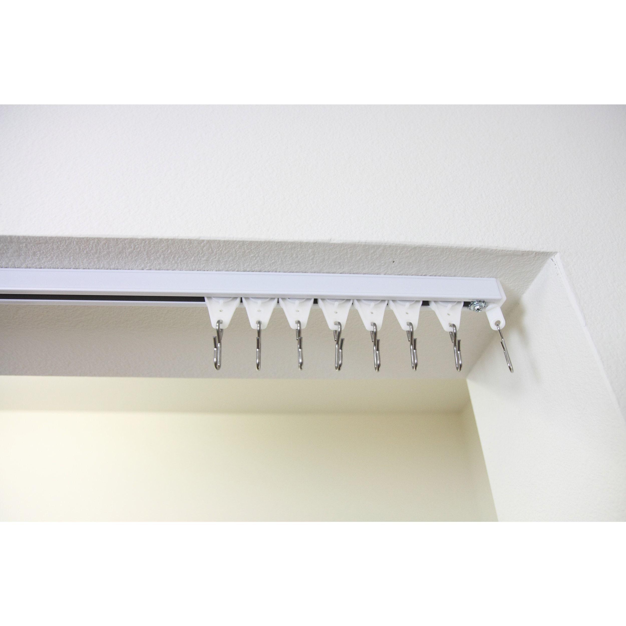 Instyledesign multipurpose room divider track kit up to ft ft
