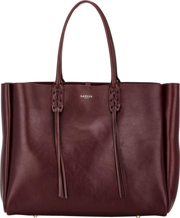 Lanvin Tassel-Handle Extra-Large Shopper-Red
