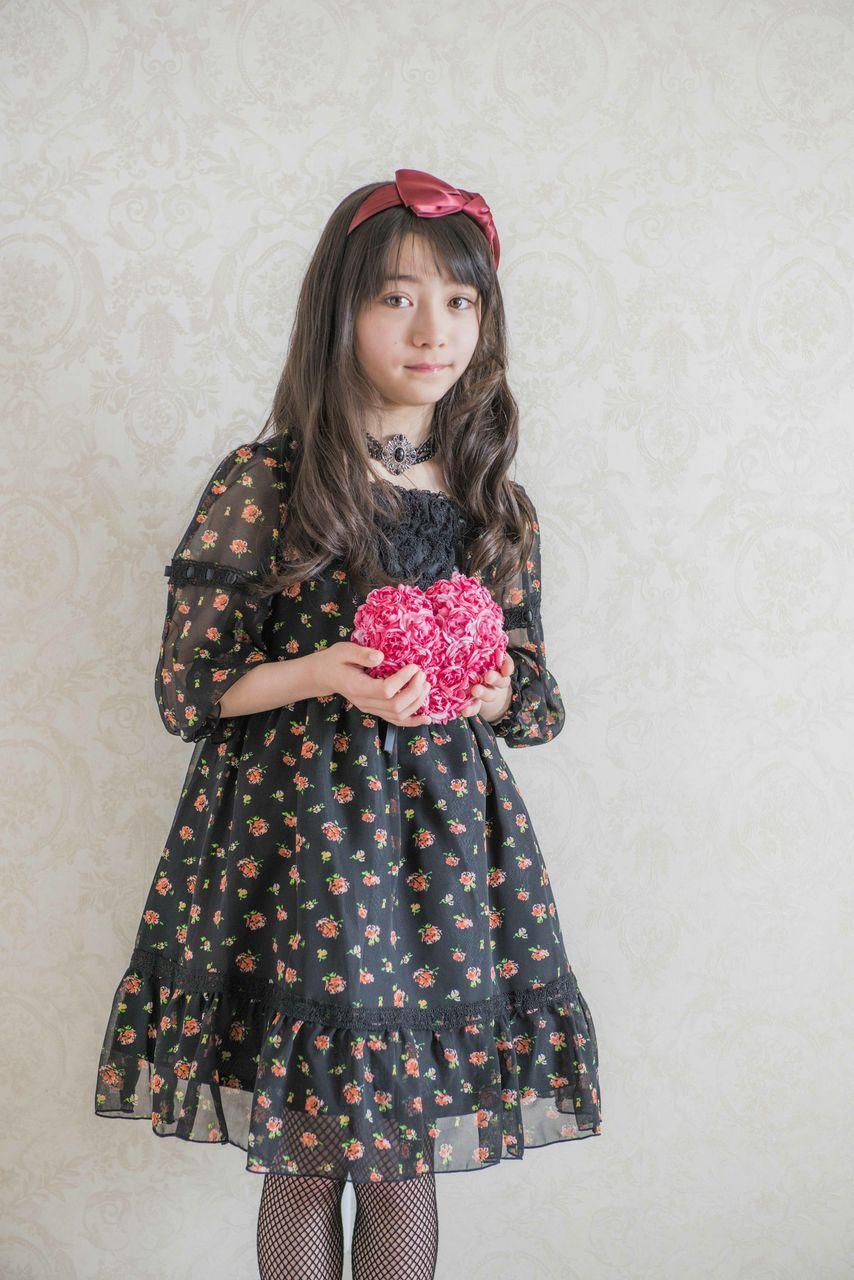 58bb49e87a568 子供ドレス 花柄シフォンワンピース 女の子 子供服 ボレロやジャケットを羽織って、