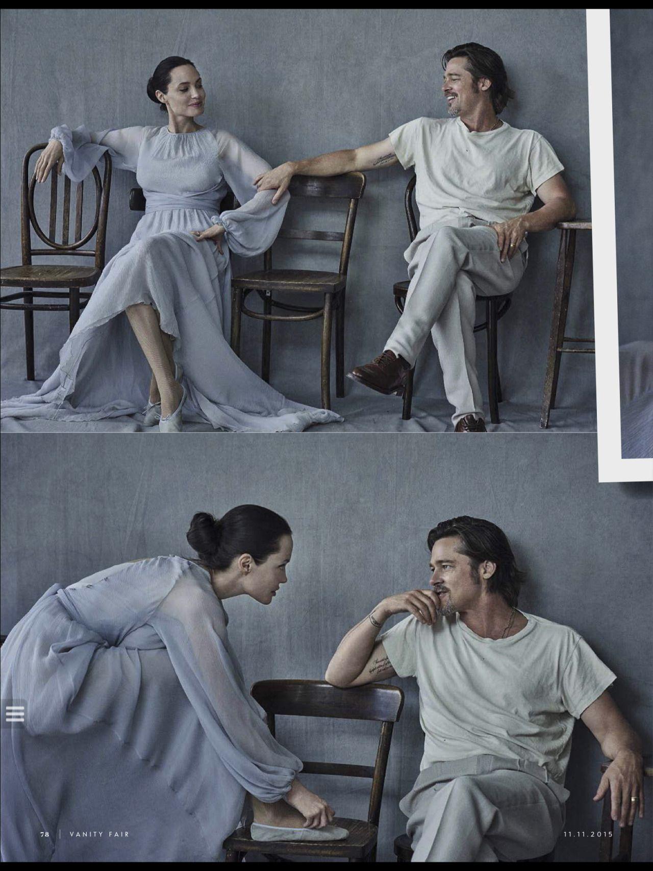 Brad Pitt and Angelina Jolie on the November 11, 2015 issue of Vanity Fair Italia.