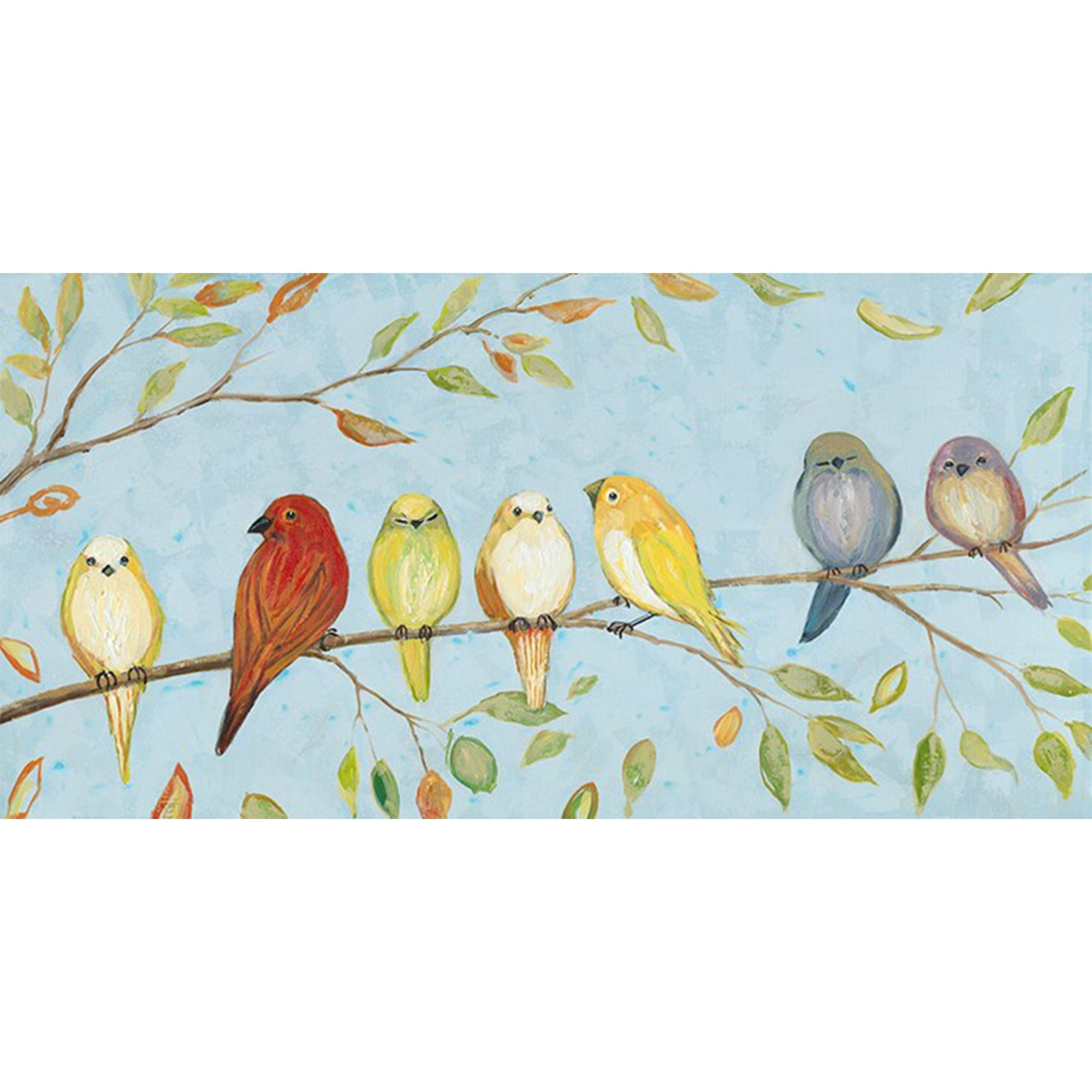 Love birds original painting on canvas art canvas