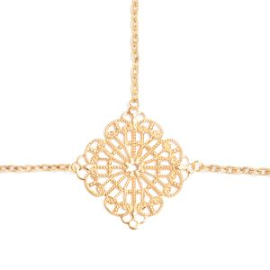 $70.00 Haley Headpiece  Unleash your inner bohemian with the Haley Headpiece. This headpiece is constructed from gold chains and features an intricate diamond shaped filigree at the center.
