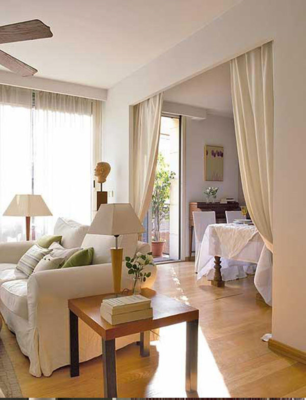 Cortina para dividir sala de estar apartamento for Separacion entre cocina y comedor