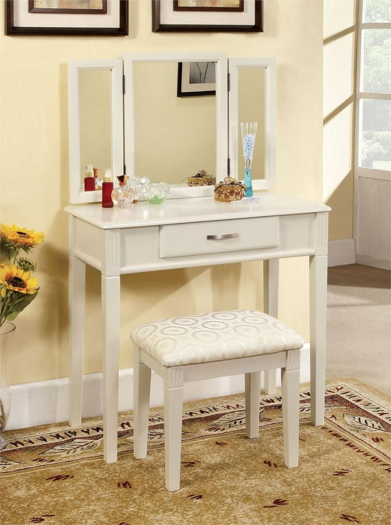Ria white makeup table set white makeup vanities and white ria white makeup table set geotapseo Image collections