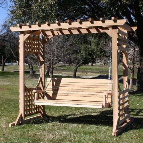 tmp outdoor furniture colonial red cedar arbor swing set porch rh pinterest com